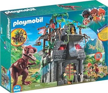 PLAYMOBIL Basiskamp van de avonturiers met T-Rex