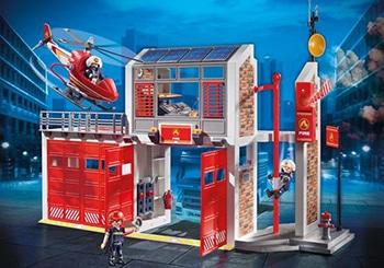 PLAYMOBIL Grote brandweerkazerne met helicopter