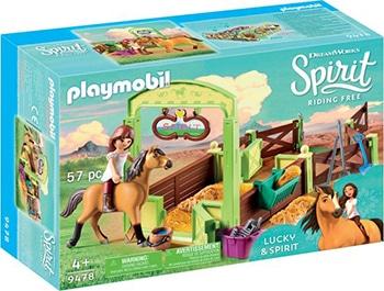 PLAYMOBIL Lucky & Spirit met paardenbox