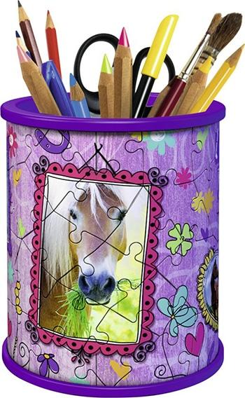 Ravensburger pennenbak paarden- Girly Girl 3D puzzel - 54 stukjes