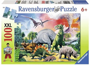 Ravensburger puzzel Tussen de dinosauriërs - Legpuzzel - 100 stukjes