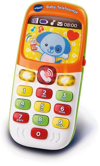 oranje baby speelgoedtelefoon van VTech