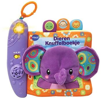 meerkleurig dieren knuffelboekje van VTech Baby