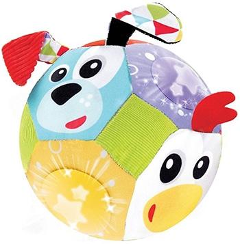 meerkleurige dierengezichten speelbal van Yookidoo