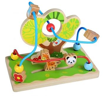 meerkleurige houten en aluminium dierentuin kralenframe van Gerardo's Toys