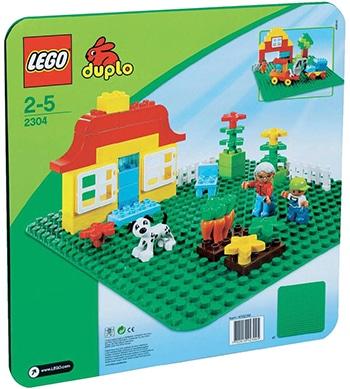 groene bouwplaat voor peuters van LEGO Duplo