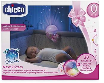 rustgevende roze projectielamp voor baby meisjes van Chicco