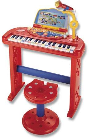 Elektronisch sprekend keyboard met microfoon en stoel, 32 toetsen