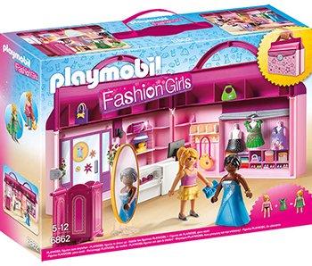 PLAYMOBIL Fashion Girls meeneem fashionshop 6862