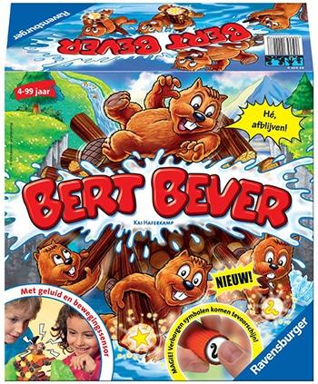 """meerkleurig actiespel """"Bert Bever"""" van Ravensburger"""