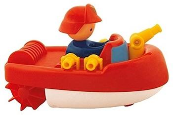rode kunststof brandweer blusboot badfiguur