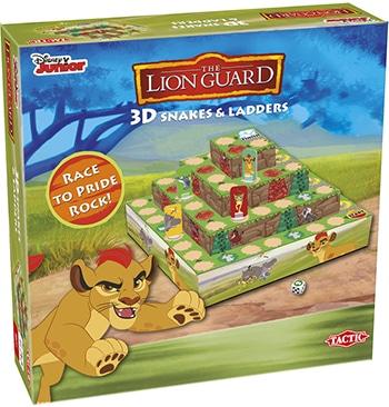 meerkleurig bordspel de leeuwenwacht van Disney Juniors & Tactic
