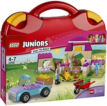 meerkleurige boerderijkoffer bouwset van LEGO Juniors