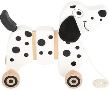 zwart witte houten dalmatiër trekfiguur van Small Foot