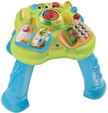 meerkleurige kunststof speelgoed activiteitentafel van VTech