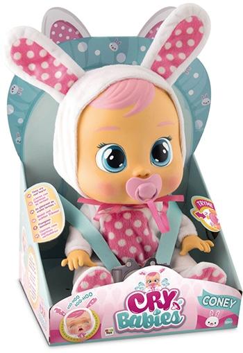 meerkleurige kunststof babypop voor meisjes van Cry Babies