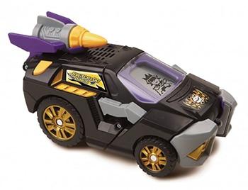 zwarte kunststof speelgoedauto van VTech