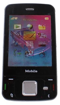 zwarte mobiele speelgoedtelefoon van Johntoy