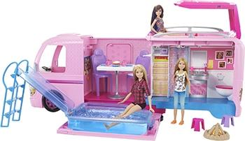 roze Barbie speelset met camper voor meisjes
