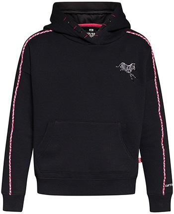 we fashion hoodie met biologisch katoen zwart