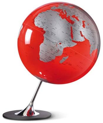 Globe Anglo Red wereldbol