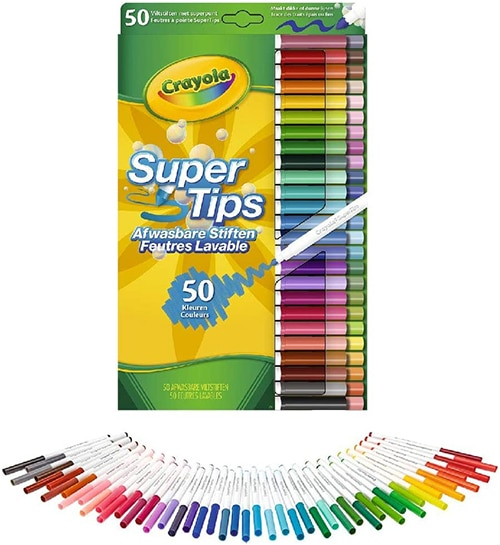 Crayola 585051G 50 Supertips Markers