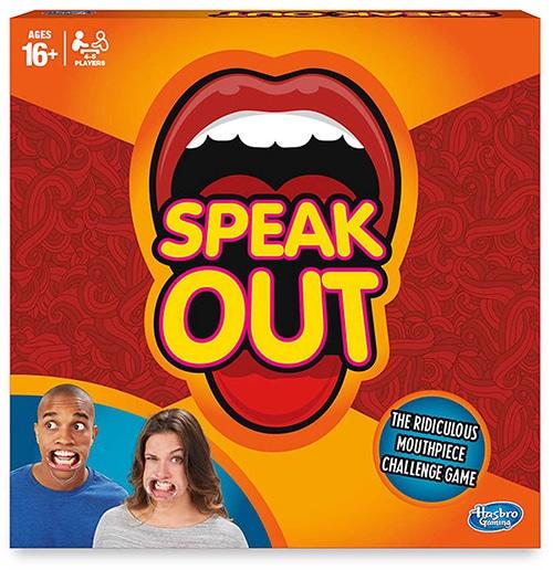 Hasbro Gaming Speak Out kaartspel