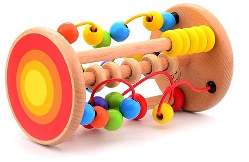 Jouéco houten rollende kralenbaan