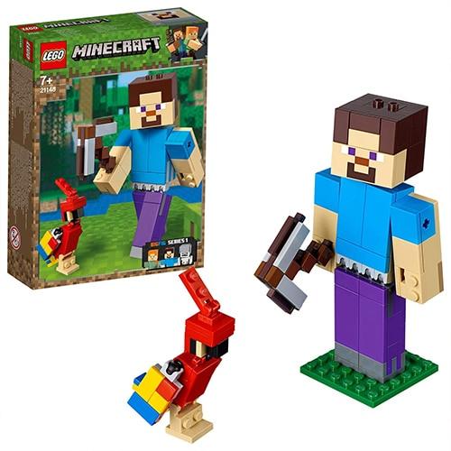 LEGO Minecraft 21148 - BigFig Steve met papegaai