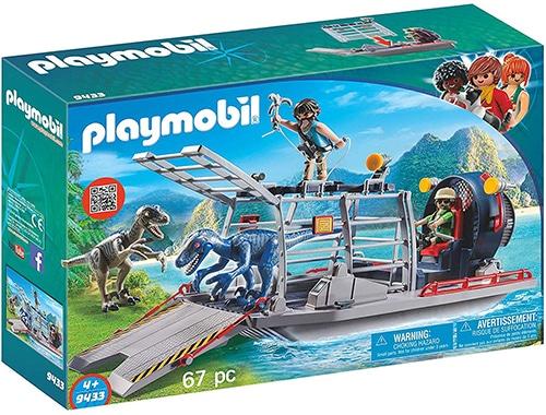 Playmobil 9433 - Propellerboot met dinokooi