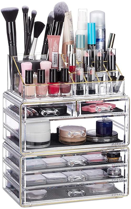 Relaxdays cosmetica-organizer