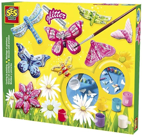 Ses 01131 Vlinders Gieten en Schilderen