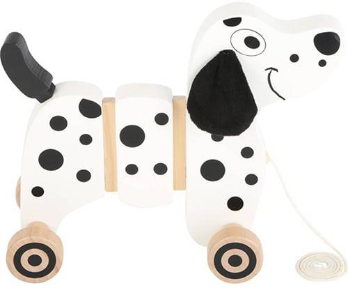 Small foot houten trekfiguur dalmatiër