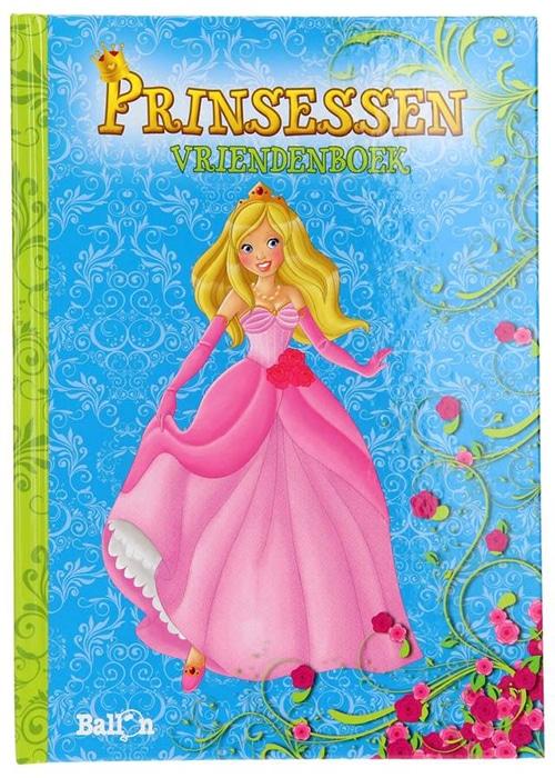 Ballon vriendenboekje prinsessen 24 x 17 cm