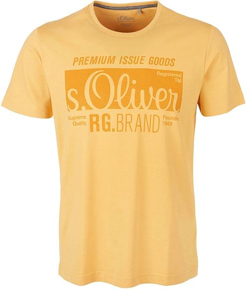 s.Oliver T-shirt met printopdruk geel