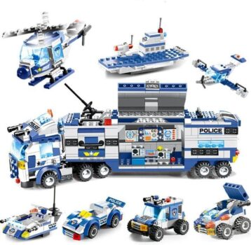 8-in-1 Vienta bouwstenenset politievoertuigen