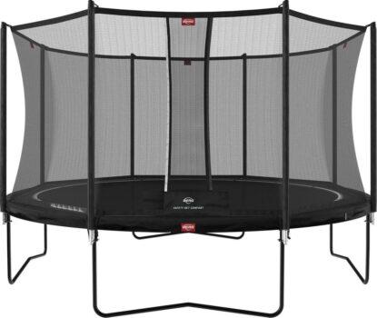BERG Favorit trampoline Regular 380 cm zwart + Safety Net Comfort