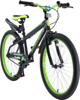 Bikestar 24 inch Urban Jungle kinderfiets zwart groen