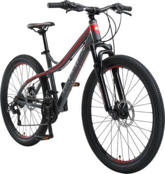 Bikestar 26 inch hardtail Alu MTB grijs rood
