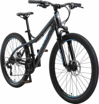 Bikestar 26 inch hardtail fiets zwart blauw