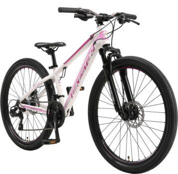 Bikestar Hardtail Mountainbike 26 inch wit roze