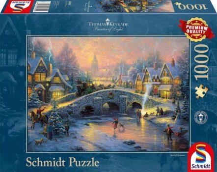 Schmidt Puzzel 58450 - Kinkade Dorp in de Sneeuw
